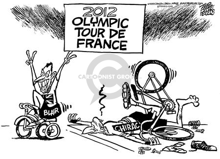 2012 Olympic Tour de France.  Blair.  Chirac.