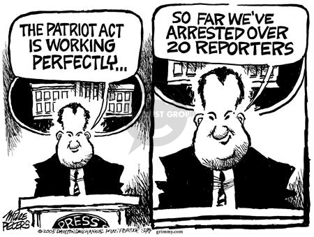 Mike Peters  Mike Peters' Editorial Cartoons 2005-07-09 freedom of the press