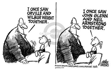 Cartoonist Mike Peters  Mike Peters' Editorial Cartoons 2003-07-11 air travel