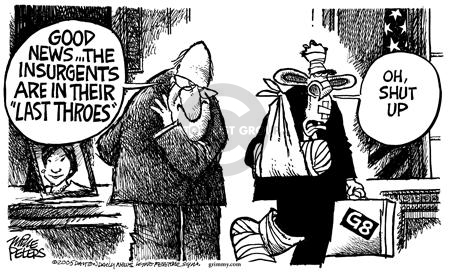 Cartoonist Mike Peters  Mike Peters' Editorial Cartoons 2005-07-11 insurgent