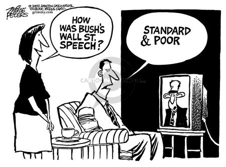 Mike Peters  Mike Peters' Editorial Cartoons 2002-07-12 stock market