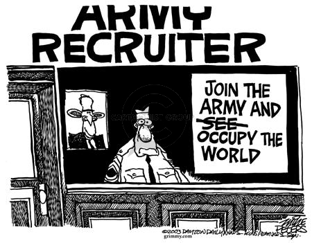 Mike Peters  Mike Peters' Editorial Cartoons 2003-07-12 army recruit