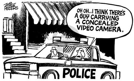 Cartoonist Mike Peters  Mike Peters' Editorial Cartoons 2002-07-13 police car