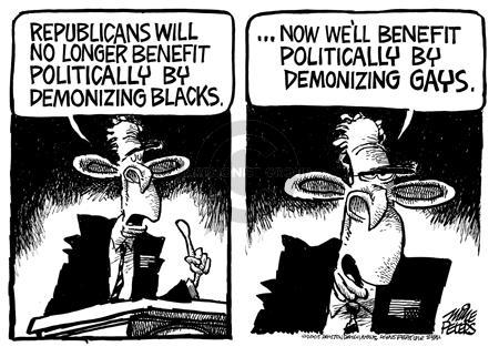 Mike Peters  Mike Peters' Editorial Cartoons 2005-07-17 racism