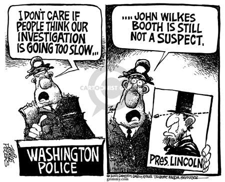 Cartoonist Mike Peters  Mike Peters' Editorial Cartoons 2001-07-19 police department