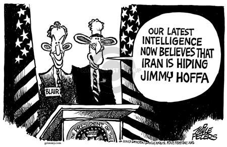 Cartoonist Mike Peters  Mike Peters' Editorial Cartoons 2003-07-20 distract