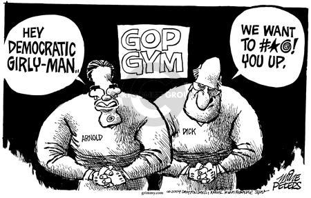 Cartoonist Mike Peters  Mike Peters' Editorial Cartoons 2004-07-22 republican president