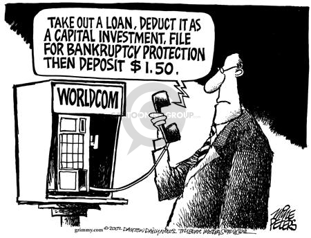 Take out a loan, deduct it as a capital investment, file for bankruptcy protection then deposit $1.50.  WorldCom.