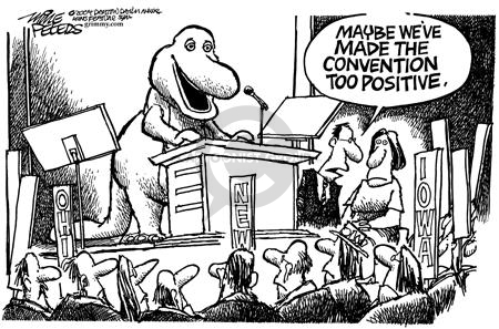 Cartoonist Mike Peters  Mike Peters' Editorial Cartoons 2004-07-29 Barney