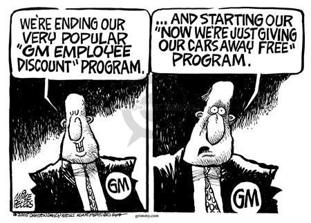 Mike Peters  Mike Peters' Editorial Cartoons 2005-07-29 car salesman