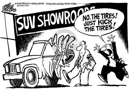 Mike Peters  Mike Peters' Editorial Cartoons 2001-08-03 dealership