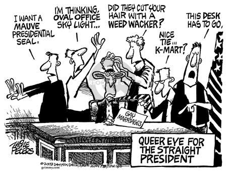 Cartoonist Mike Peters  Mike Peters' Editorial Cartoons 2003-08-03 eye