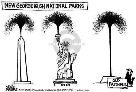 Cartoonist Mike Peters  Mike Peters' Editorial Cartoons 2001-08-04 monument