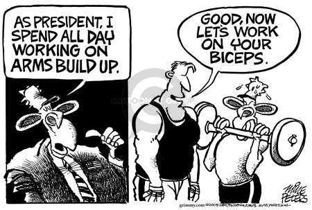 Cartoonist Mike Peters  Mike Peters' Editorial Cartoons 2005-08-06 weight