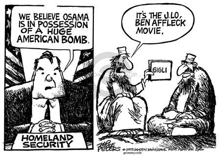 Cartoonist Mike Peters  Mike Peters' Editorial Cartoons 2003-08-07 terrorist