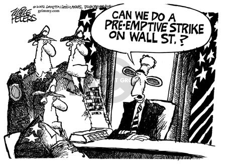 Cartoonist Mike Peters  Mike Peters' Editorial Cartoons 2002-08-08 recession