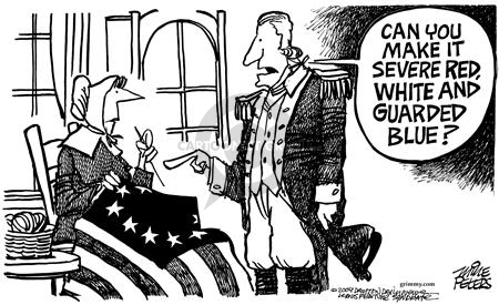 Cartoonist Mike Peters  Mike Peters' Editorial Cartoons 2004-08-08 war