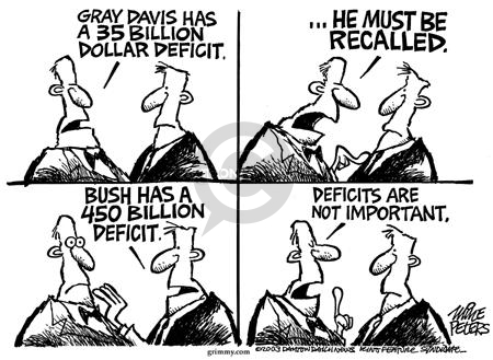 Cartoonist Mike Peters  Mike Peters' Editorial Cartoons 2003-08-15 inconsistency