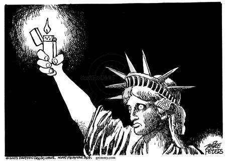Cartoonist Mike Peters  Mike Peters' Editorial Cartoons 2003-08-18 city