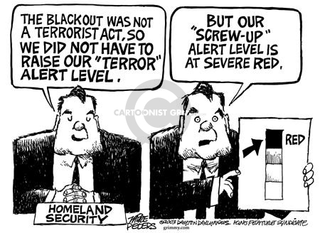 Mike Peters  Mike Peters' Editorial Cartoons 2003-08-20 electric