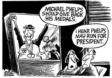 Cartoonist Mike Peters  Mike Peters' Editorial Cartoons 2004-08-20 competition