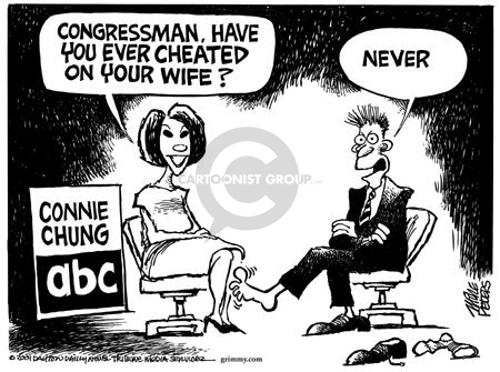 Cartoonist Mike Peters  Mike Peters' Editorial Cartoons 2001-08-23 contradiction