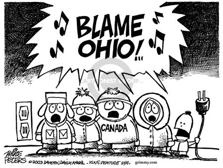 Mike Peters  Mike Peters' Editorial Cartoons 2003-08-24 electric