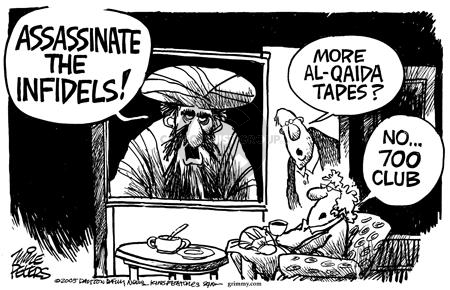Cartoonist Mike Peters  Mike Peters' Editorial Cartoons 2005-08-27 terrorist