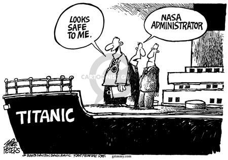 Cartoonist Mike Peters  Mike Peters' Editorial Cartoons 2003-08-28 national security