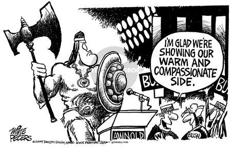 Cartoonist Mike Peters  Mike Peters' Editorial Cartoons 2004-09-02 New York City