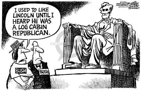 Cartoonist Mike Peters  Mike Peters' Editorial Cartoons 2004-09-03 republican president