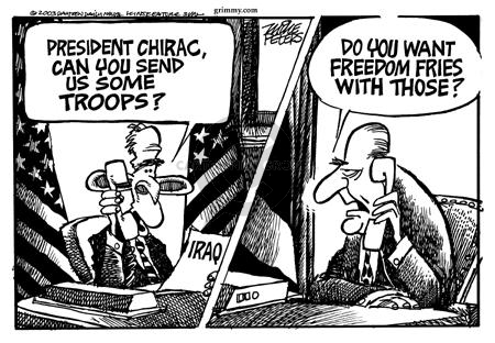 Cartoonist Mike Peters  Mike Peters' Editorial Cartoons 2003-09-06 France