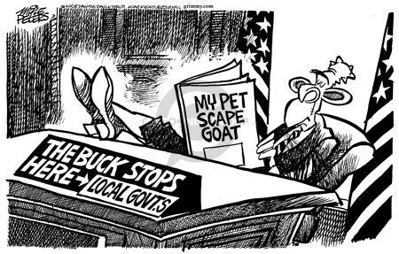 Cartoonist Mike Peters  Mike Peters' Editorial Cartoons 2005-09-08 devastation