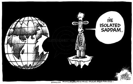 Cartoonist Mike Peters  Mike Peters' Editorial Cartoons 2002-09-12 war