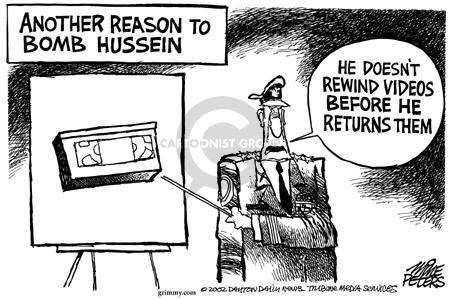 Cartoonist Mike Peters  Mike Peters' Editorial Cartoons 2002-09-13 war