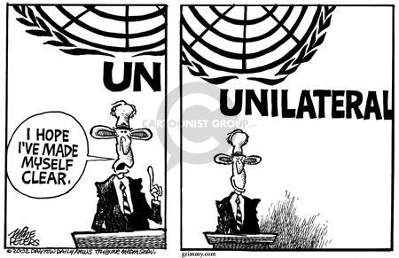 Cartoonist Mike Peters  Mike Peters' Editorial Cartoons 2002-09-14 war