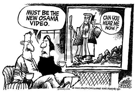 Cartoonist Mike Peters  Mike Peters' Editorial Cartoons 2003-09-14 terrorist