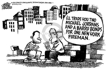 Cartoonist Mike Peters  Mike Peters' Editorial Cartoons 2001-09-15 trade