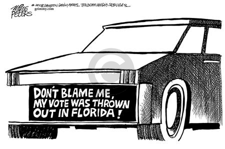 Cartoonist Mike Peters  Mike Peters' Editorial Cartoons 2002-09-15 2000 election