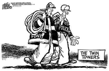 Cartoonist Mike Peters  Mike Peters' Editorial Cartoons 2001-09-17 police department