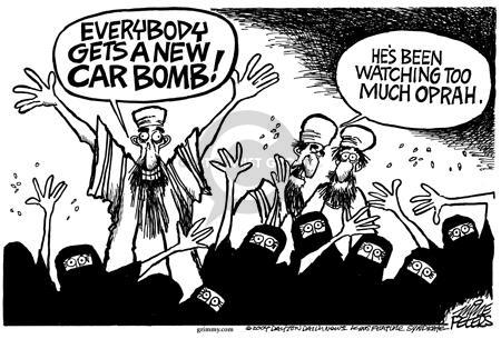 Cartoonist Mike Peters  Mike Peters' Editorial Cartoons 2004-09-17 terrorist