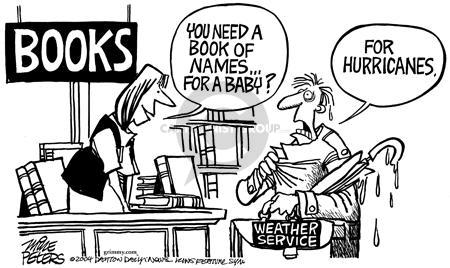 Cartoonist Mike Peters  Mike Peters' Editorial Cartoons 2004-09-18 storm