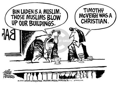 Cartoonist Mike Peters  Mike Peters' Editorial Cartoons 2001-09-20 terrorist