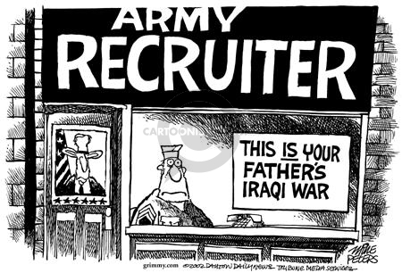 Mike Peters  Mike Peters' Editorial Cartoons 2002-09-20 army recruit