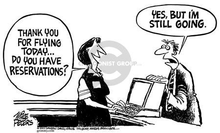 Cartoonist Mike Peters  Mike Peters' Editorial Cartoons 2001-09-21 trip
