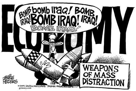 Cartoonist Mike Peters  Mike Peters' Editorial Cartoons 2002-09-27 distract