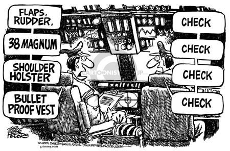 Cartoonist Mike Peters  Mike Peters' Editorial Cartoons 2001-09-28 plane