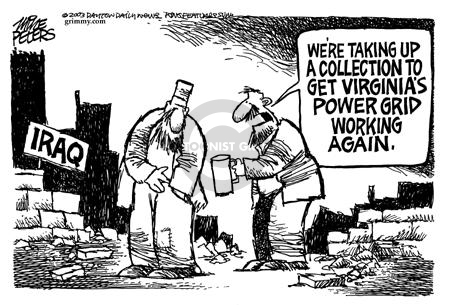 Mike Peters  Mike Peters' Editorial Cartoons 2003-09-28 electric