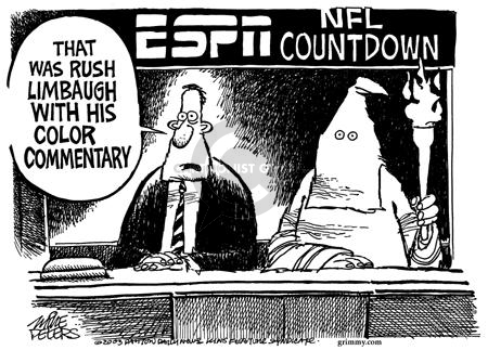 Mike Peters  Mike Peters' Editorial Cartoons 2003-10-04 football player