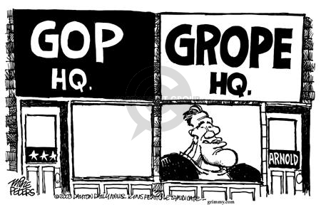 Mike Peters  Mike Peters' Editorial Cartoons 2003-10-05 sexual assault